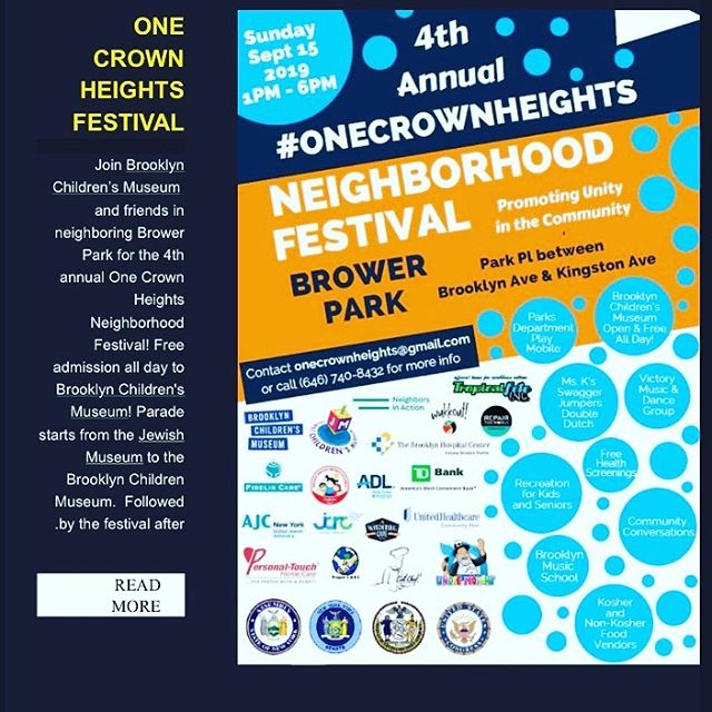 Hey Family,  Please join #onecrownheights Neighborhood Festival in Brower Park on 9/15 from 1-6pm. More details on flyer!! . . . #like #share #community #crownheights #brooklyn #brooklyncommunity  #unity
