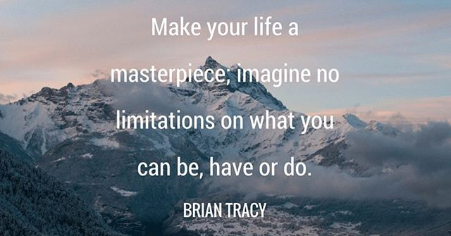 We hope your #monday is going well! Here's some #mondaymotivation for the rest of your day 🤗 . . . #masterpiece #like #share #thedbna #imagine #positivevibes  #nolimitations  #briantracyquotes