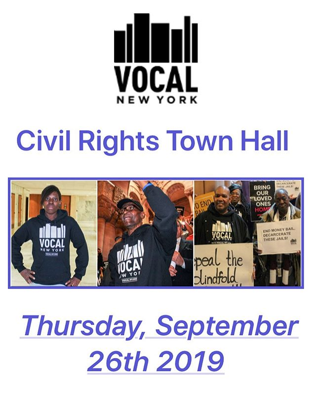 Join community members @vocalnewyork in New York as we continue our fight to Close Rikers Island and end mass incarceration. We are coming down the wire as the plan to Close Rikers will be coming to a vote in City Council next month in October so please join us as we will be discussing the Close Rikers plan, Community Resources, and also Discovery Reform. So join us on Thursday, September 26th at 5:30PM at the Pacific Library at 25 4th Ave in Brooklyn as we gather for a Civil Rights Town Hall!  PLEASE RSVP IF YOU CAN ATTEND:  https://vocal.ourpowerbase.net/civicrm/event/register?reset=1&id=2402  Please spread the word to help us build the movement!  DETAILS  What: Civil Rights Town Hall  When: Thursday, September 26th @ 5:30PM  Where: Pacific Library-- 25 4th Avenue (at Pacific Street)  Subway: B,D,2,3,4,5,N,Q,R to Atlantic Ave/Barclays Center  #endmassincarceration  #closerikers  #brooklyntownhall #brooklyncommunity  #civilrights #communityresources #pacificlibrary #like #share