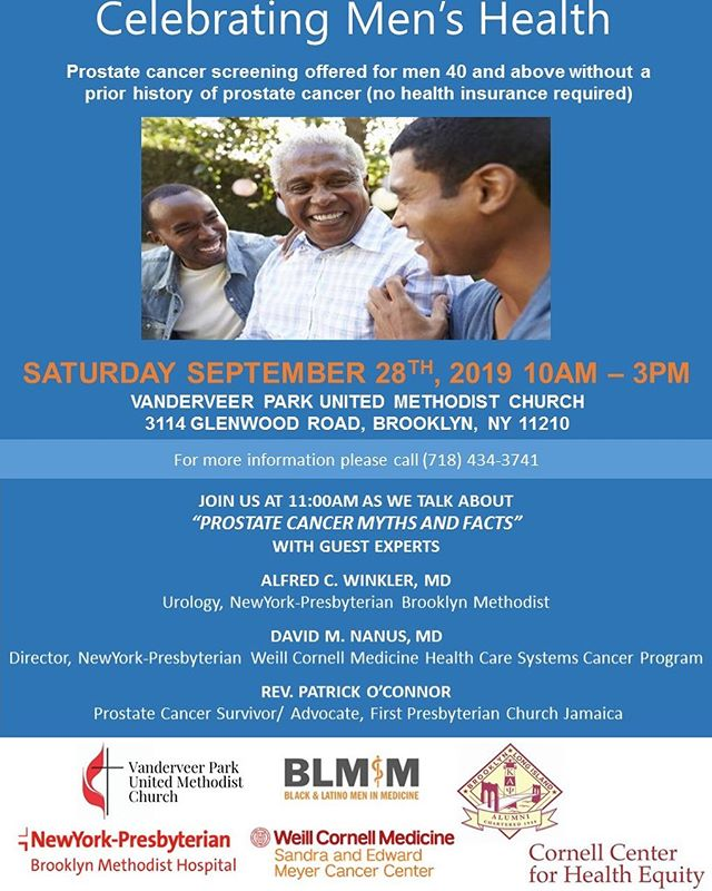 Tomorrow!!Celebrating Men's Health!! See flyer for details! . . #like #share #menshealth #prostatehealth  #brooklynhealth #healthandwellness