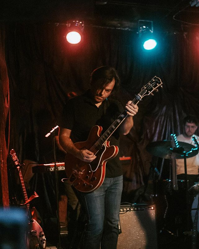 No finer #wednESday post than @erickcole and his 🔥 ES355 at the EP release show. . . 📸: @ylracbutler . . #gibson #es355 #guitarhero