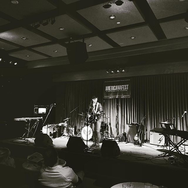 "Andrew, playing last at @americanafest // a clip of ""L.A. Morning"" is on the story ⤴️"