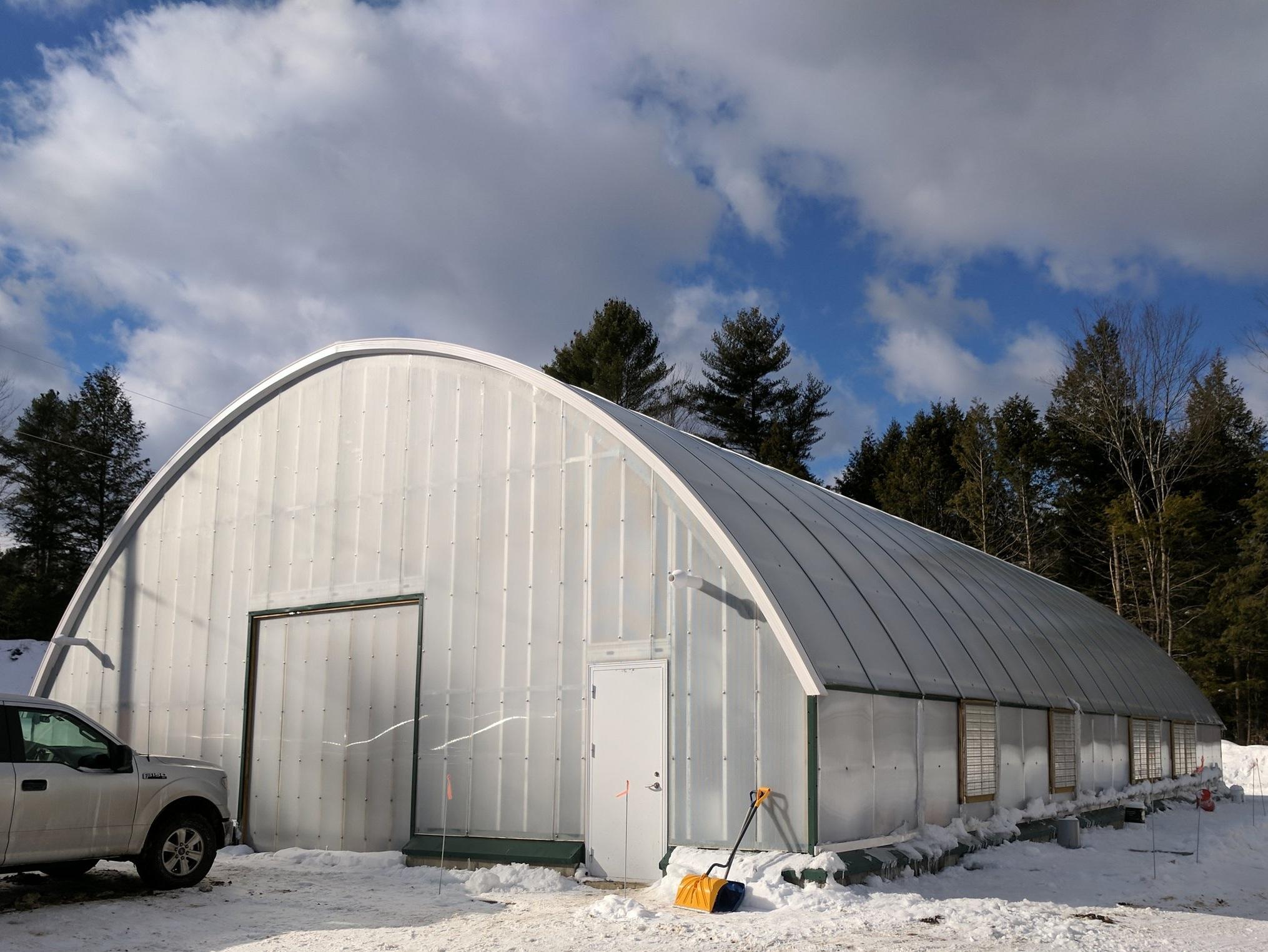 ArchSolar Maine Greenhouse Winter