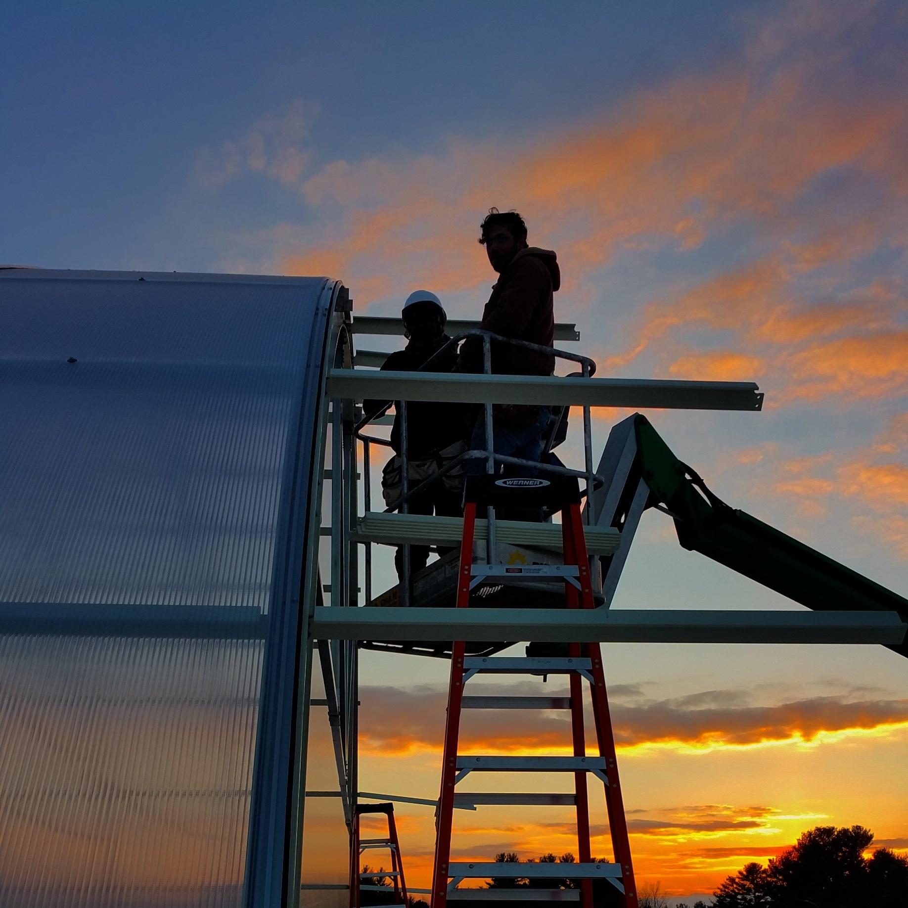 ArchSolar Greenhouse Installation
