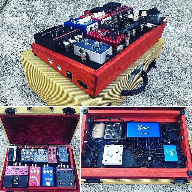 Woodlander Live Looper Pedal Board for Vocal and Guitar Effects