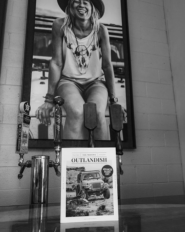 You've seen her on our wall and her book on our bar top. Two weeks from today @running_bum_ herself will be in our taproom! Morgan will be here for @forluluevents' @gearandbeerfestival on June 19th. Meet Morgan, snag a beer, and get a signed copy of her book #outlandish.