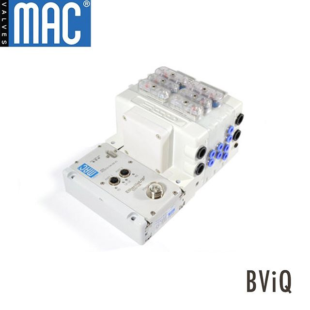 Increase your production IQ.  Introducing BViQ, a product bringing our patented Bullet Valve to the masses in a modular plug-in style.  MAC Valves multi patented Bullet Valve® Technology brings innovation to the air valve industry with our balanced, lifting-type solenoid design. It's superior life, reliability, repeatability and flow in one compact package.  The BViQ® is available in B314 and BV414 configurations featuring these innovative characteristics: • Dual Bullet Valve® Cartridge slices – reducing overall footprint • Dual 4-way slices • Intermixing of 3-way & 4-way valve slices in a common assembly • MAConnect® – available for wire-free manifold interconnects • Single fastener BV mounting – provides quick and simple assembly • Adapts via MAConnect® to several interface adapter types – including MI/O-67® • Many of the Bullet Valve® modifications available – optimized rubbers, flows, etc.  #makeitMAC #MacValves #MacValvesPacific #PulseValve #MiniatureAirValve #3WayValve #4WayValve #SpoolValve #BulletValve #SolenoidValve #PneumaticValve #Engineering #EngineeringIndustry #Industry #MVP #PneumaticEngineering #Pneumatics #CustomEngineering
