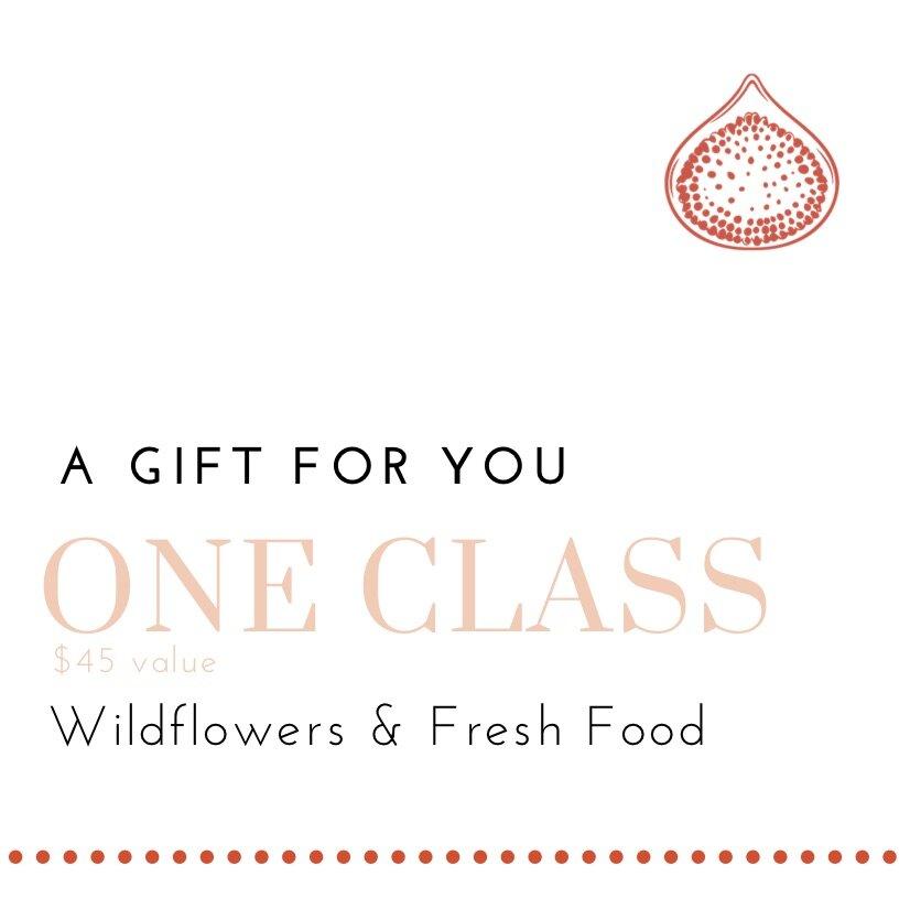 Wildflowers & Fresh Food Gift Certificate