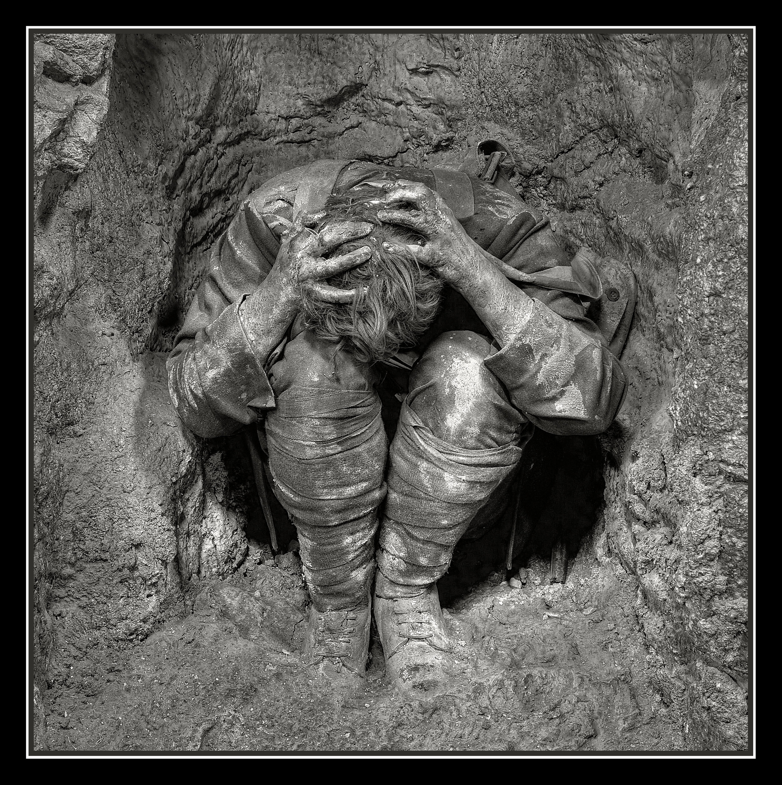 A Soldier with PTSD Fell in a Hole...