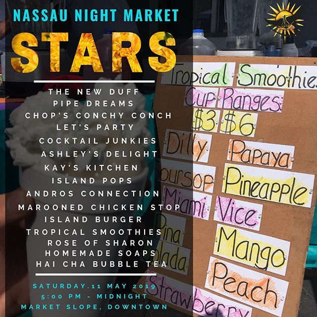 Find us tomorrow with @thenewduff at the Nasaau Night Market!  #nassaunightmarket @nassaunightmarket
