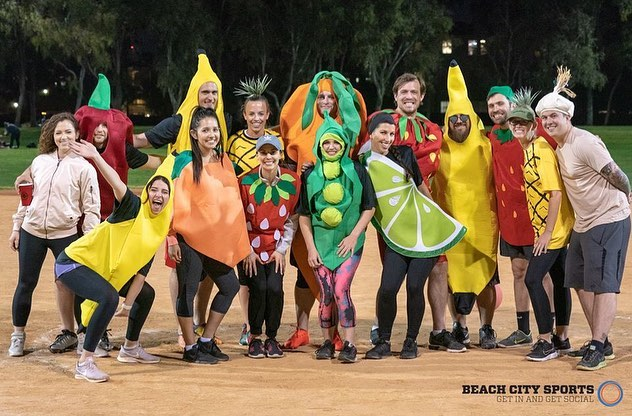 Huge thanks to our @beachcitysports fam for rocking their fruit and vegetable outfits to help spread awareness about the World Record attempt benefiting @miraclesforkids 💛 . If you see a familiar face in any of these photos tag them below so we can provide a proper thank you 🤙🏼 . #guinnessworldrecord #worldrecord #charity #bananas #huntingtonbeach #surfcity #surfcityusa #oc #orangecounty #socal #beachcitysports #socal #california #thenextfunthing #snacks #themeweek