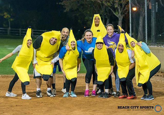 Hey @beachcitysports, we heard spirit week is coming up soon. We may do something special for teams who dress up in a fruit or vegetable costume. If any teams are interested, lettuce know in the comments below! . #bananas #orangecounty #charity #oc #spiritweek #beachcitysports #guinessworldrecord #worldrecord