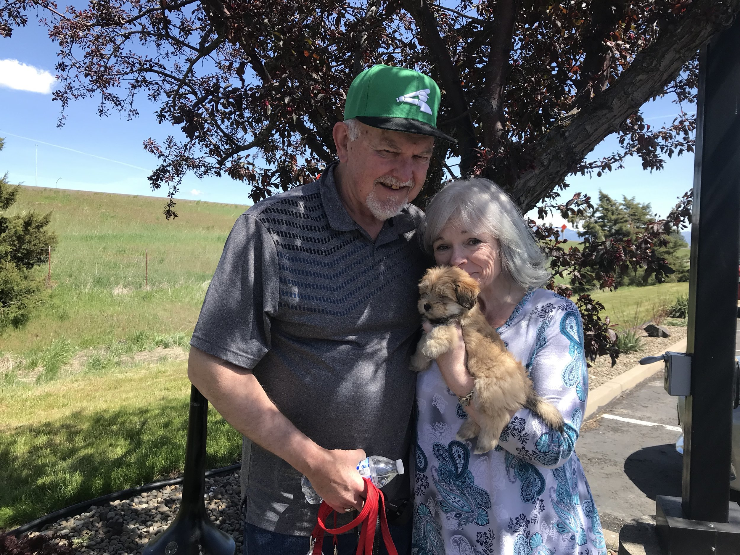 Sunshine with her new family in Kennewick, Washington