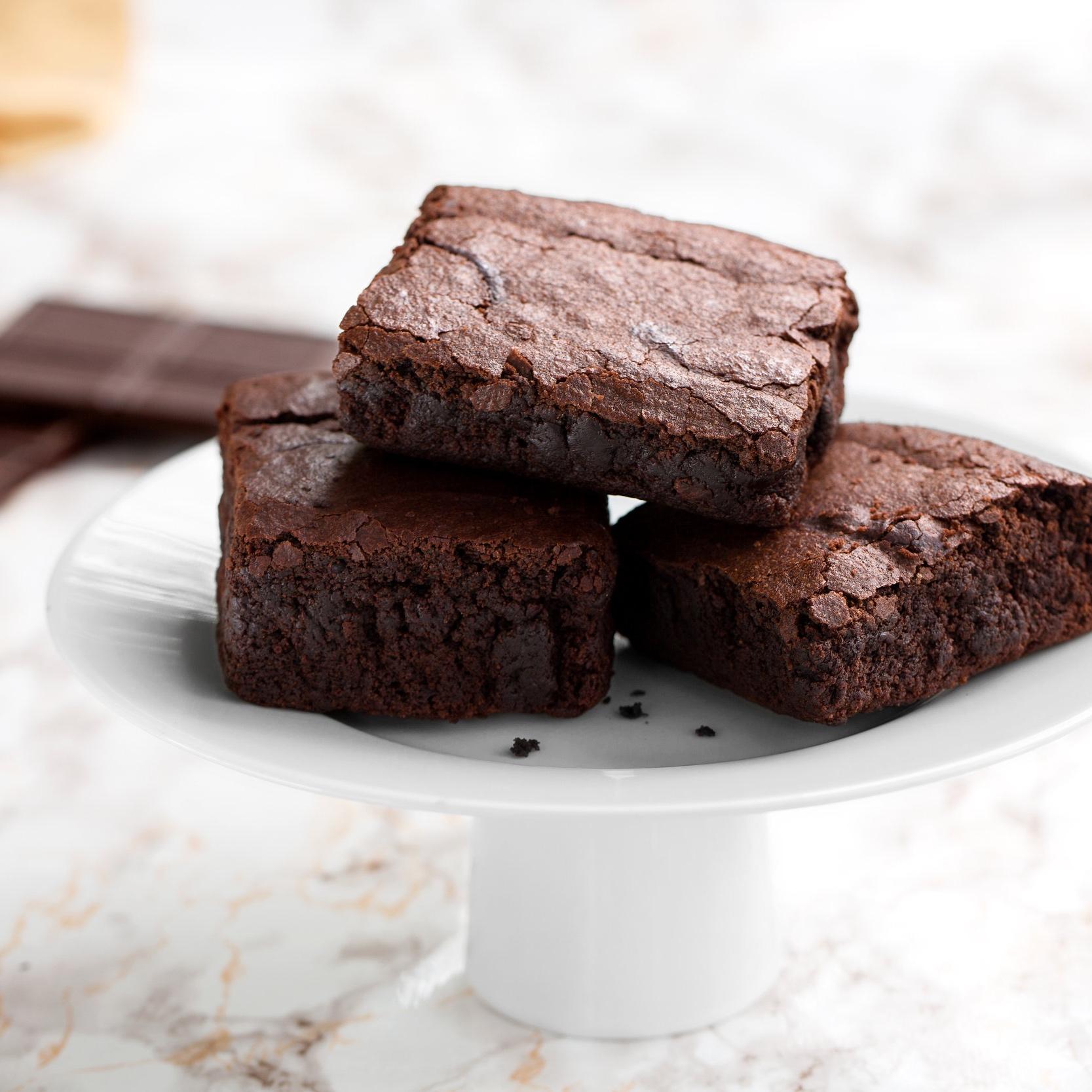 Brownies   Scratch-made fudgy brownies.