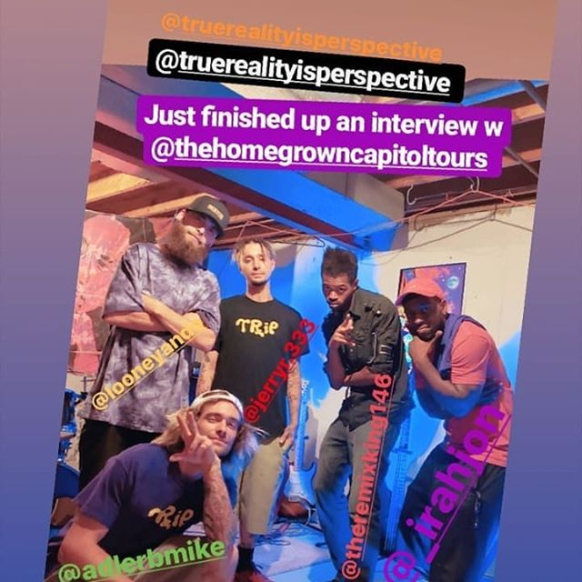 We went to see @truerealityisperspective  for an interview follow up after the launch party. We got a perspective into their world. We saw them in their own setting and got some merch while we were at it. Follow up them see to what's next for their band.