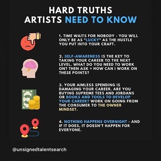 Here are some hard truths to know that can benefit every artist, dj, band, or musicians in general #homegrownmusic  #THCT