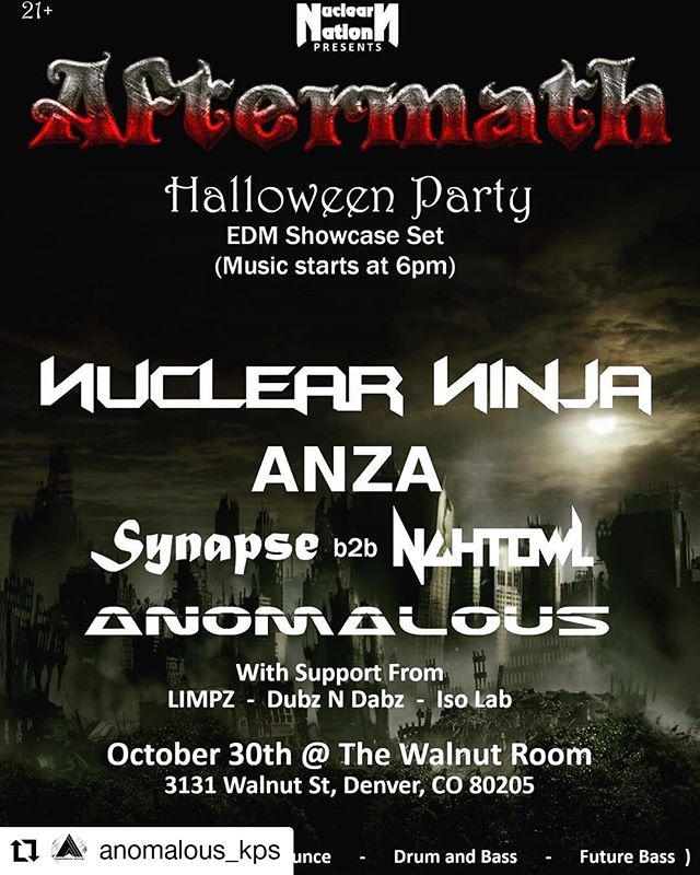Go support our good friend @anomalous_kps  this hallows Eve  @thewalnutroom he always puts on a great show #Denver