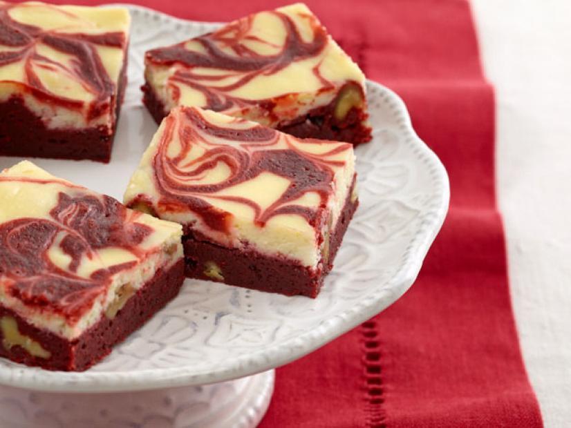 Royal Red Velvet Cream Cheese Swirl Brownies.