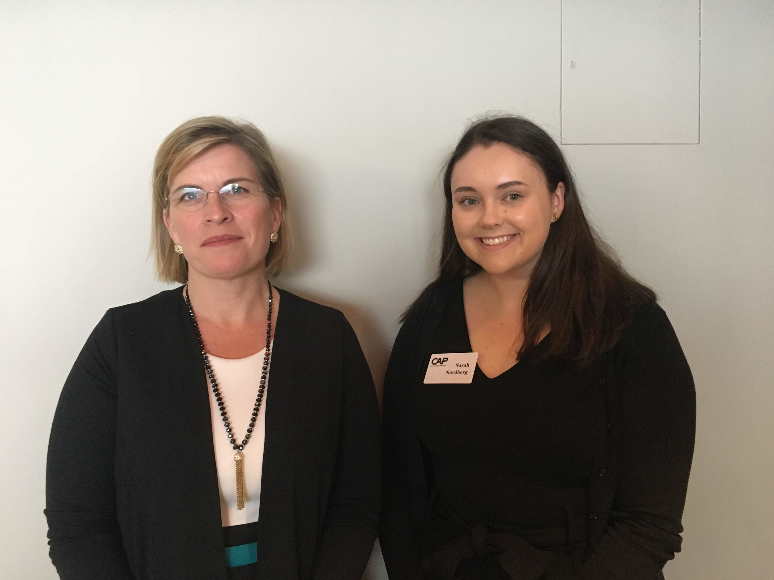 Faculty Presenter and Host Supervisor, Representative Marjorie Decker and CAP Fellow Sarah Nordberg on June 12.