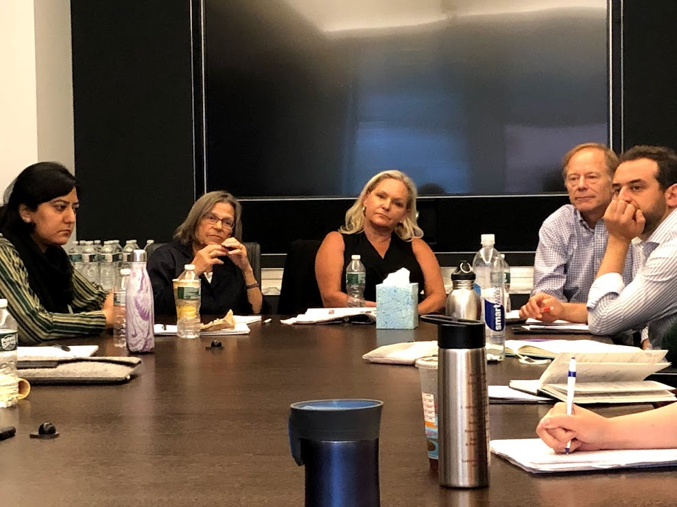 Presenters Renee Loth, Paige Harrison, and Bruce Mohl share their practical insights and how journalism aides policy on July 10 at the Boston Globe.
