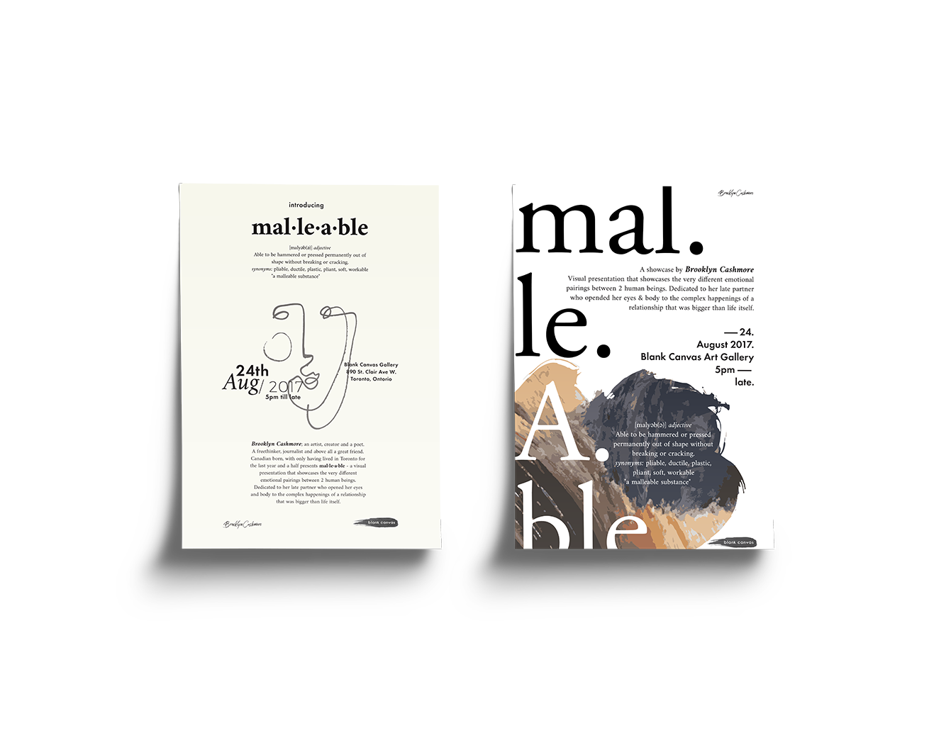 mal.le.able - poster design