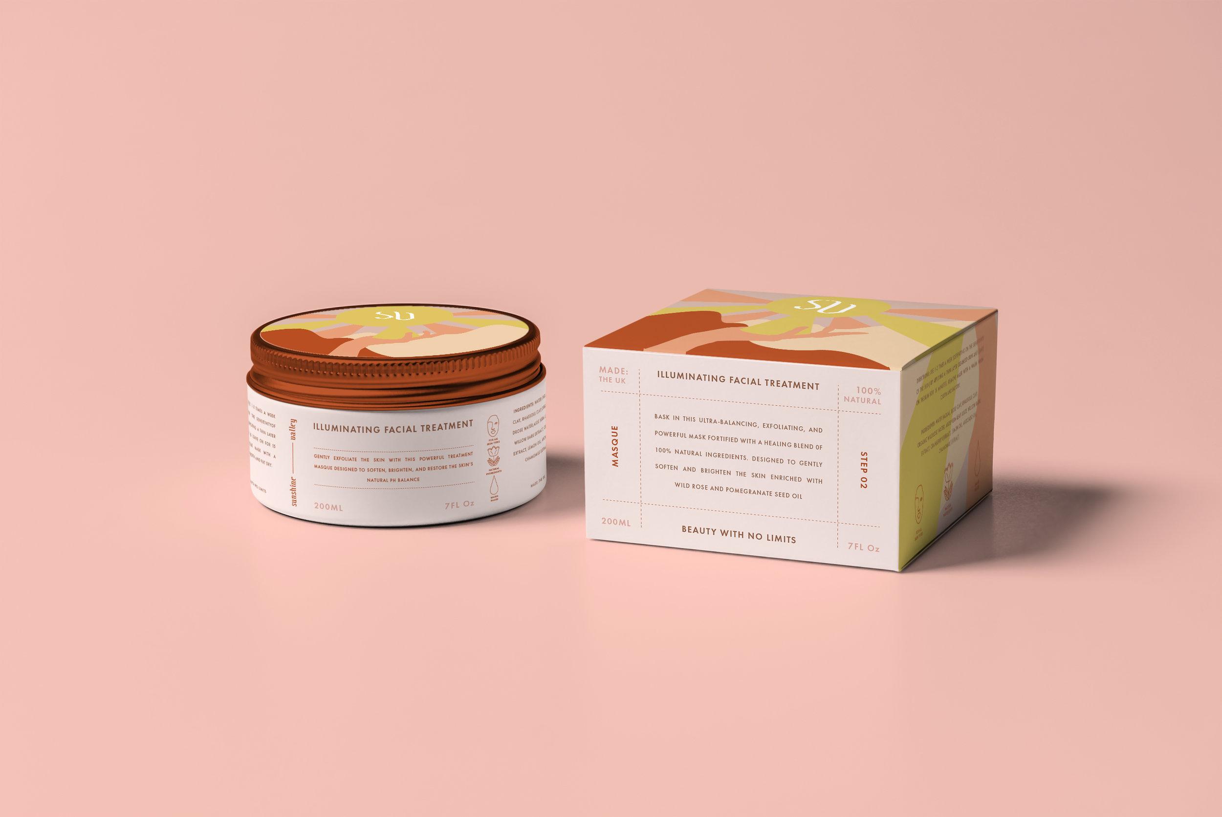 sunshine valley beauty - naming, brand development, logo & packaging design