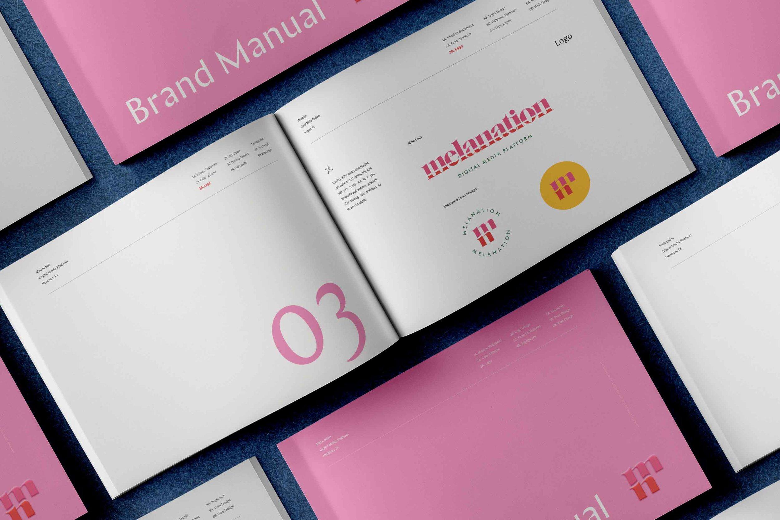 melanation - logo design, brand development