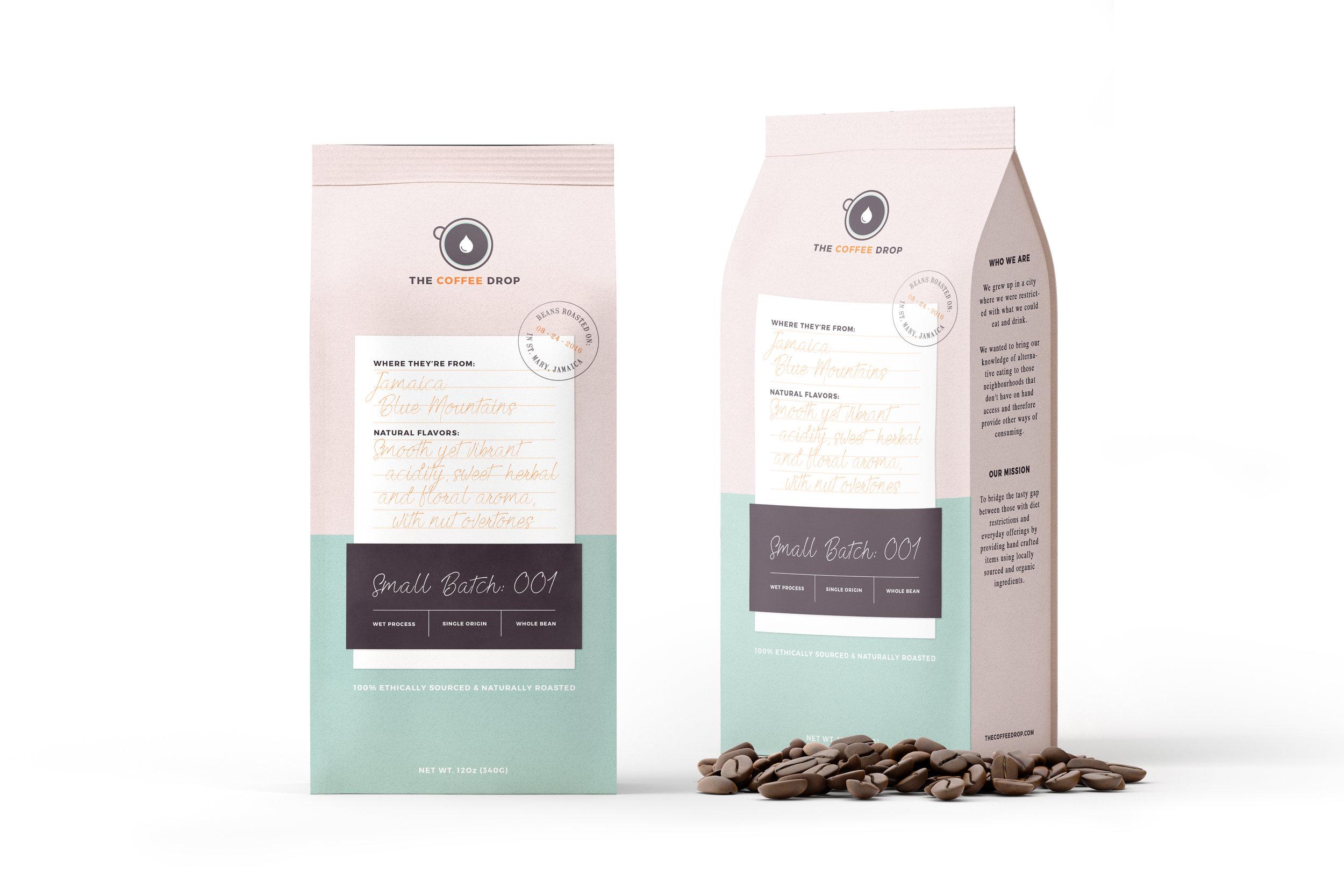 the coffee drop - naming, brand development, packaging design