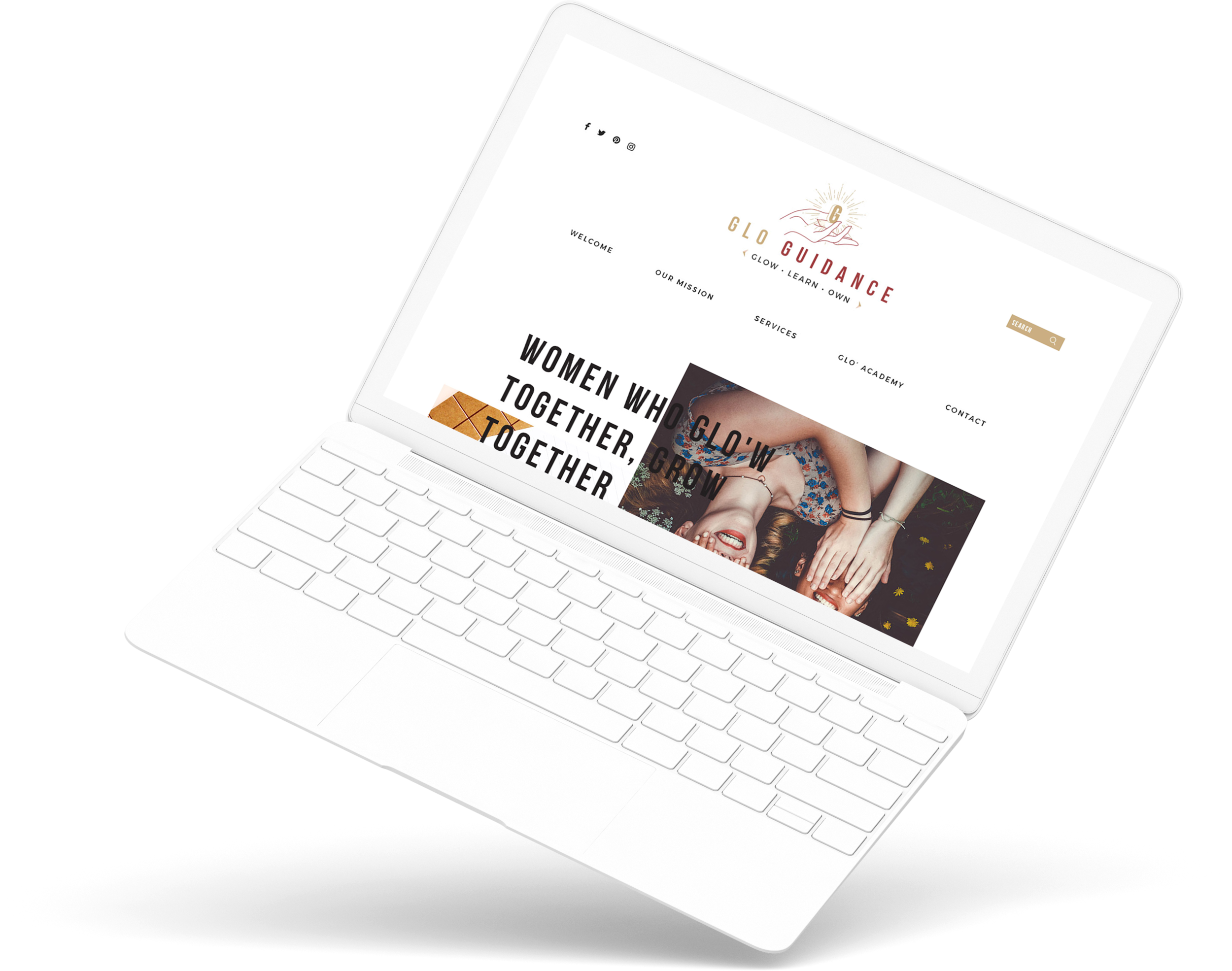 Glo Guidance - logo design, brand development, bespoke site design