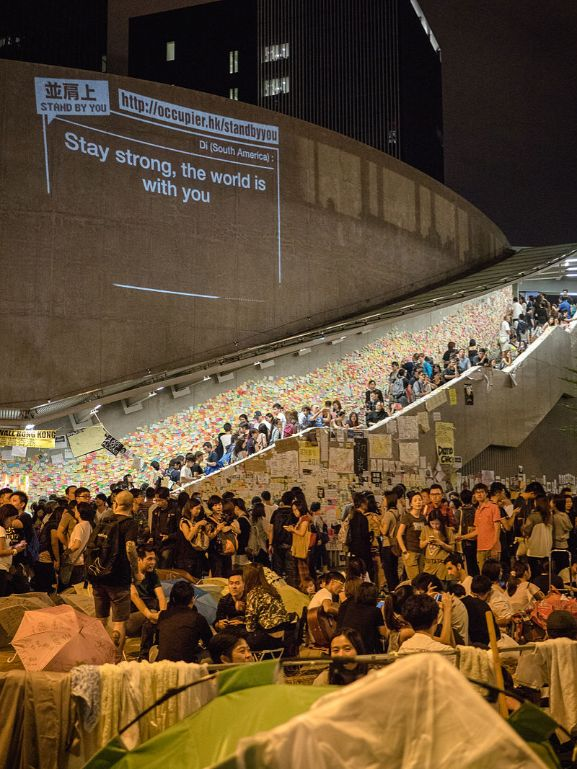 2014年的香港藍儂牆