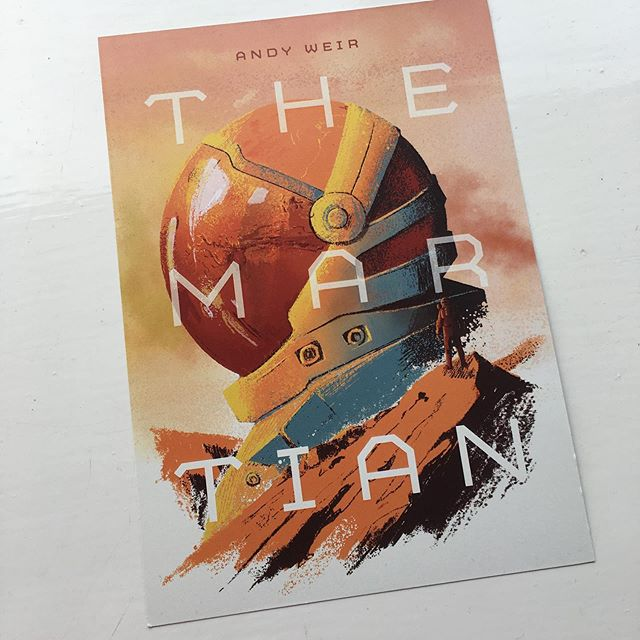 This again but it's now available as a limited edition print (only 25). It's an #a5 #print of my take on a book cover for the Martian available from my print shop, £10, free delivery. Thanks for looking you lot 👍#illustration #themartian #printtobuy #onlineshop #fanart #artprints #scifiprints