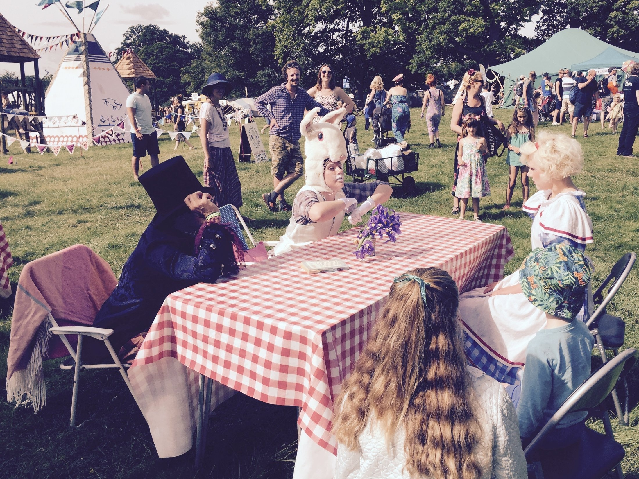 The Mad Hatter's Tea Party - The Gateway and Storystock Circus of Stories introduce Alice, the Mad Hatter and the White Rabbit where it's always tea time, there is much madness and everyone is welcome. All ages.