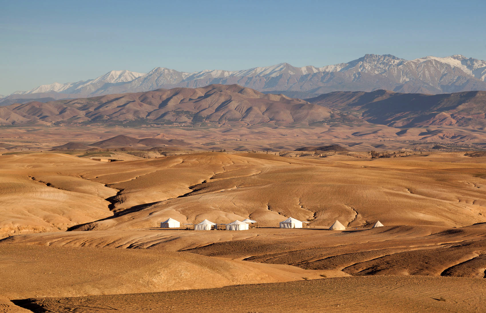MOROCCO: A DESERT RETREAT - This austere tented camp isn't far from Marrakesh, but it's literally off the map.Wall Street Journal, 2013.
