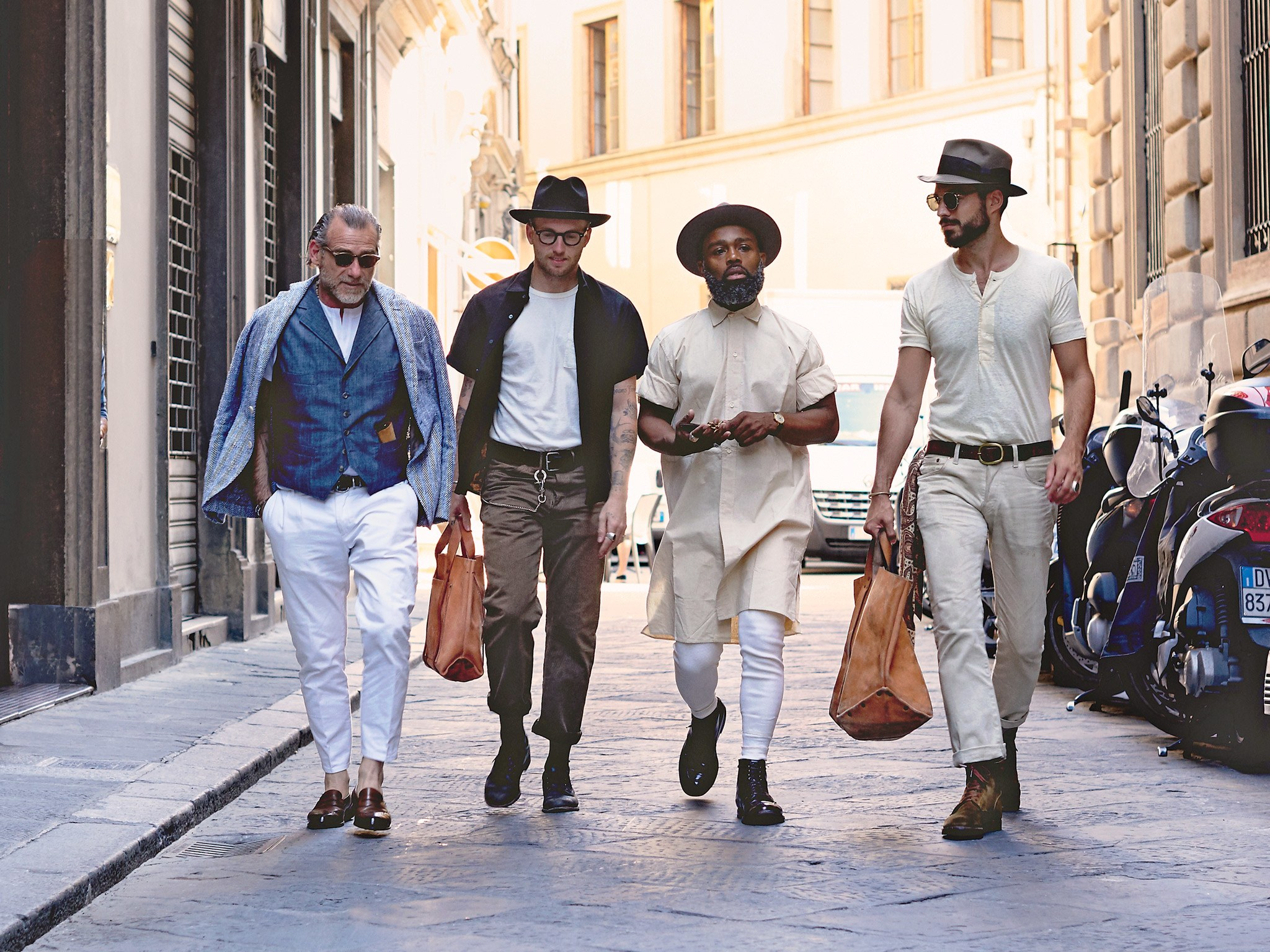 pitti party - Where the young vintage-menswear crowd hangs out in Florence.Conde Nast Traveler, 2016.