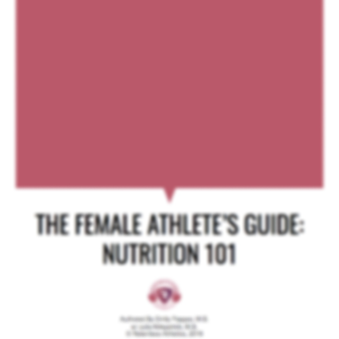 Female Athlete Nutrition 101eBOOK - COMING SOON!!!