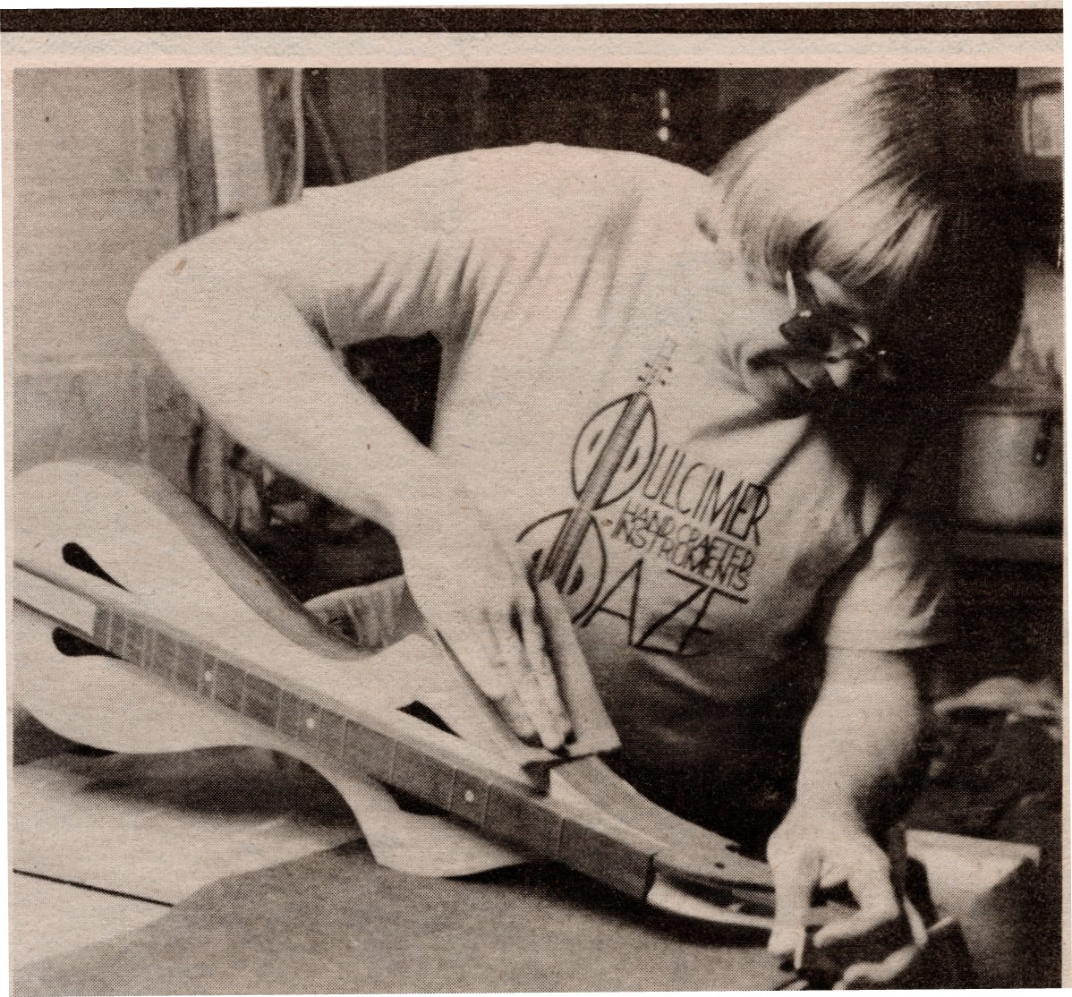 Gil Anderson at work ca. 1985