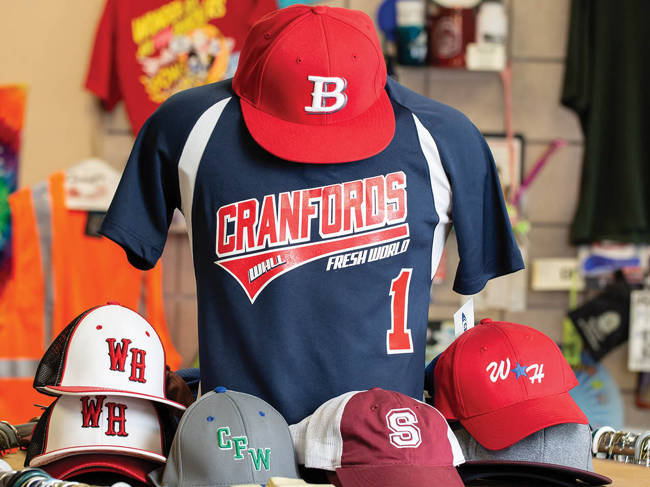 Hey batter, batter! - Let us help get your team to the big leagues. Arkansas Printing has everything your player needs, from embroidered hats to custom jerseys and athletic pants!