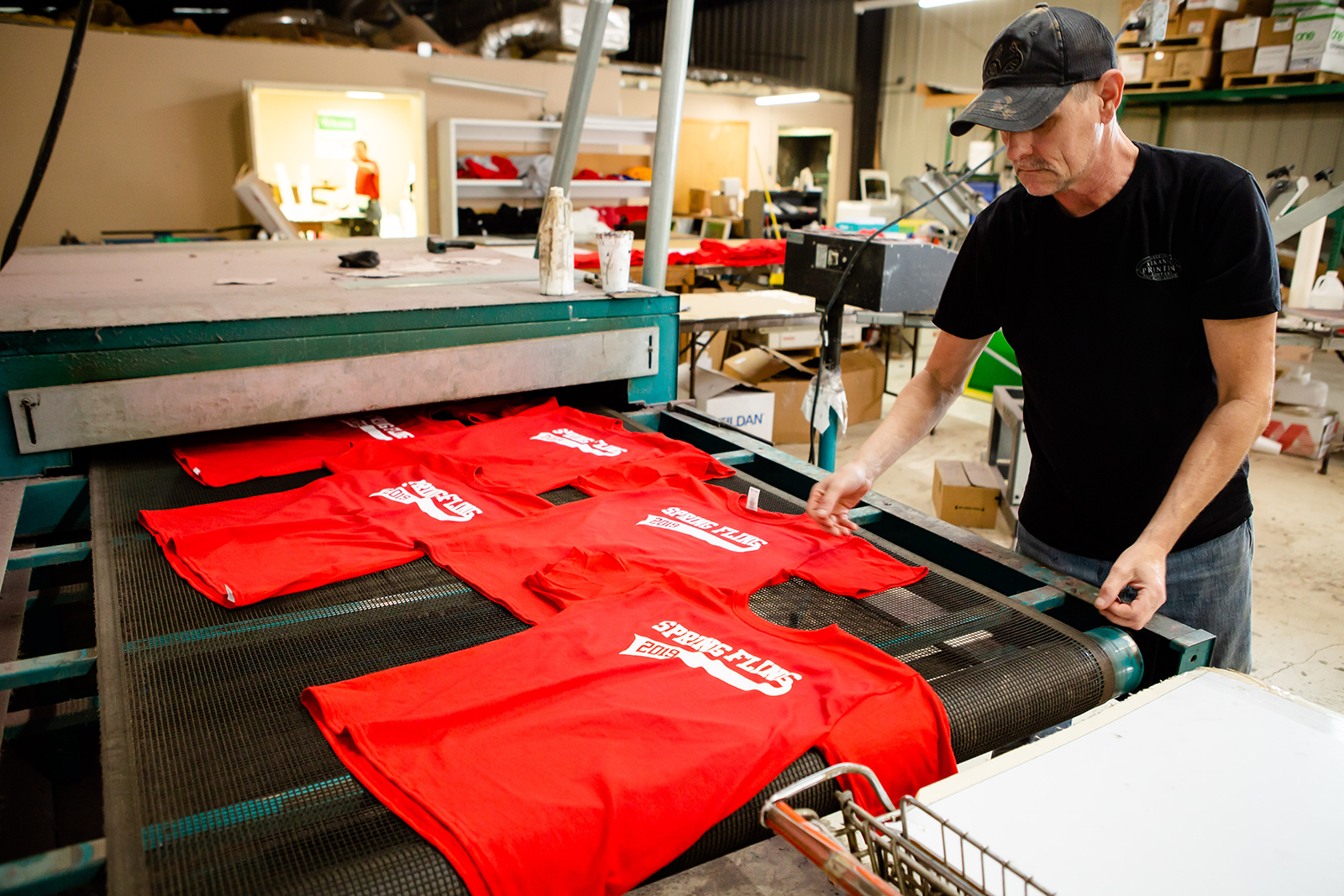 Screen print apparel - Do you have a brilliant t-shirt idea? Our fully automated M& R press ensures the highest quality at wholesale prices with a production capability of 200+ shirts per hour and up to 8 colors!Looking to print a low quantity? Our manual presses allow us to print quantities as low as 12 pieces right here in the shop. We would love to make your business, team, or retail apparel dreams a reality.