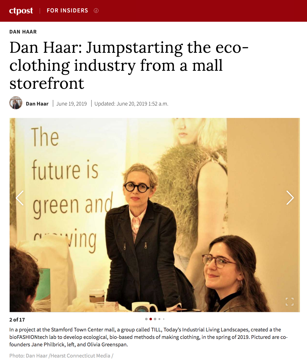 "CT Post: ""Dan Haar: Jumpstarting the eco-clothing industry from a mall storefront"" -"