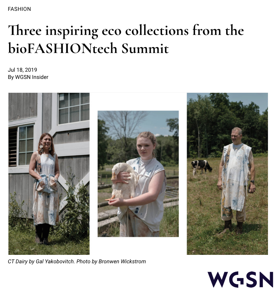 "WGSN: ""Three inspiring eco collections from the bioFASHIONtech Summit"" -"