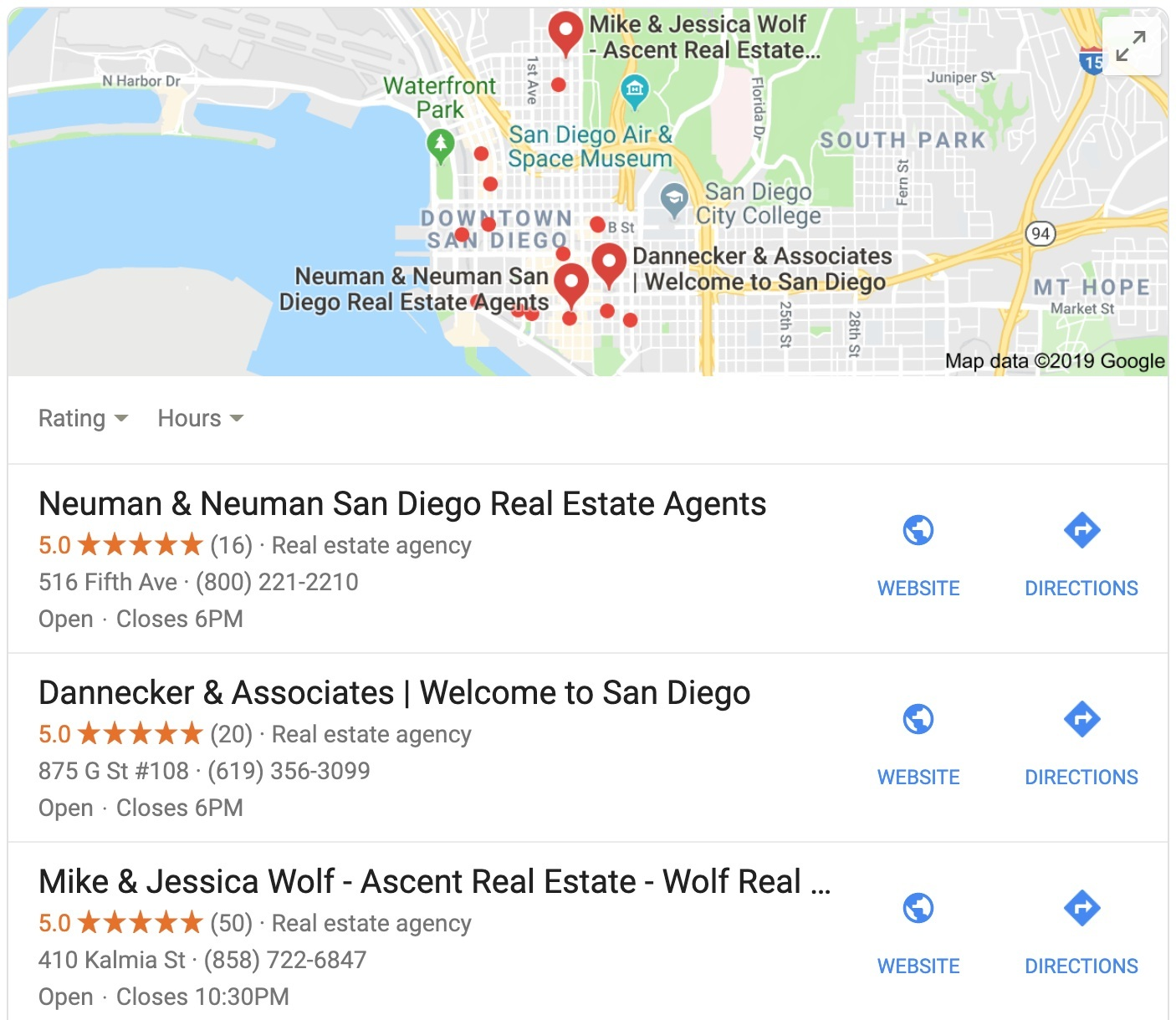 Real+Estate+Agents+on+Google+Maps