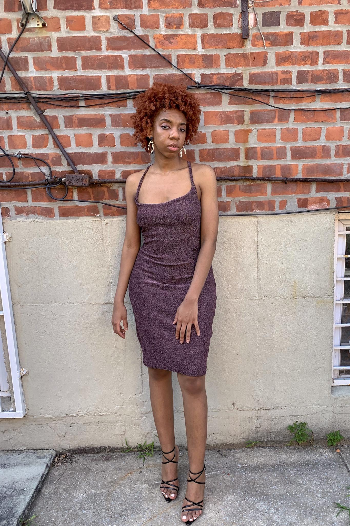 ginger + glitter dress