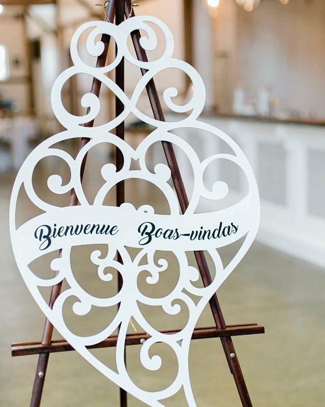 You have my whole heart for my whole life.  #welcome #bienvenue #portugueseheart #ottawawedding #mrandmrs #weddingdecor  Venue: @stonefields_estate  Photo Credits: @stephaniemasonphotography