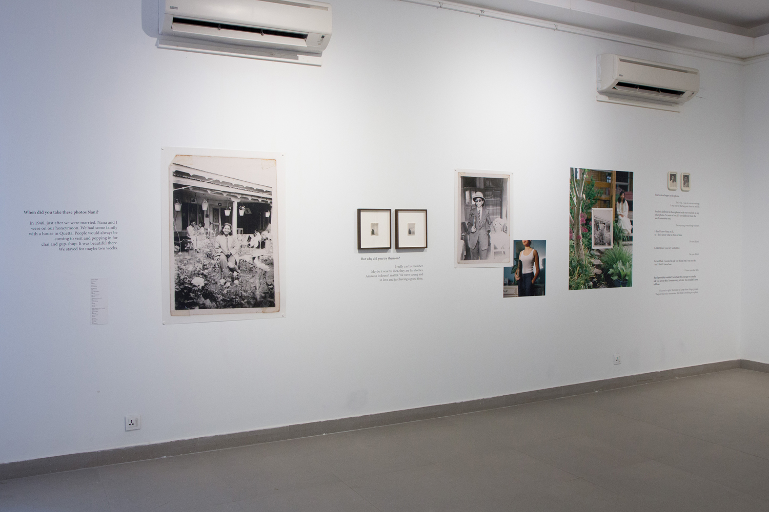 Installation View from VM Art Gallery at the 2017 Karachi Biennale Photo courtesy of the artist.