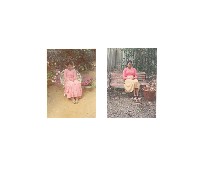 Vanaja Ganeshan, Kondavil, Jaffna, Sri Lanka. 1977. Byra Dineshkumar, Pickering, ON. 2012.