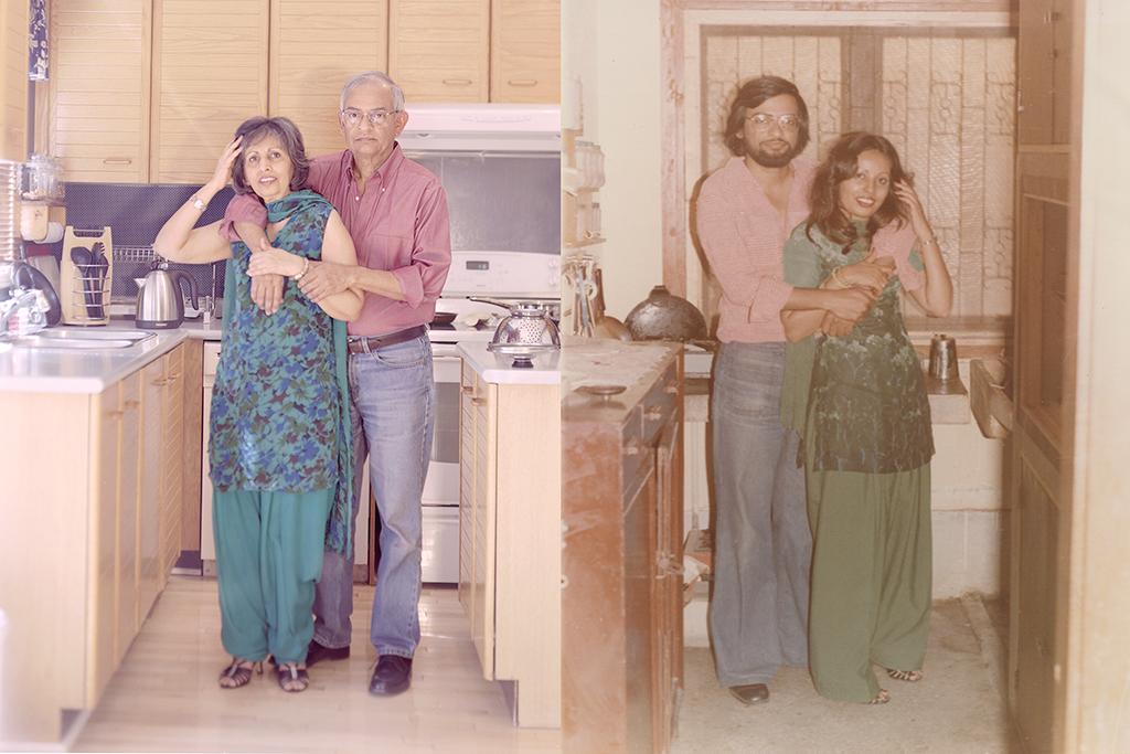 Afsar and Rehana Naqvi, Pickering Canada, 2012. Afsar and Rehana Naqvi, Karachi Pakistan, 1977.