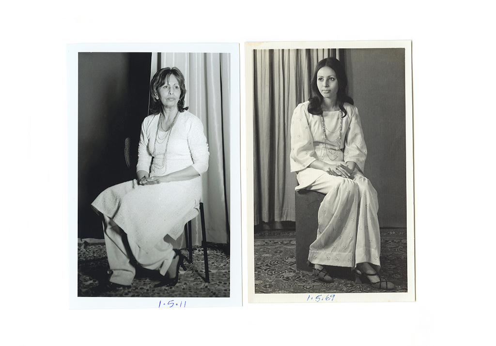 Rehana Naqvi, Karachi Pakistan 1969. Rehana Naqvi, Toronto Canada, 2011