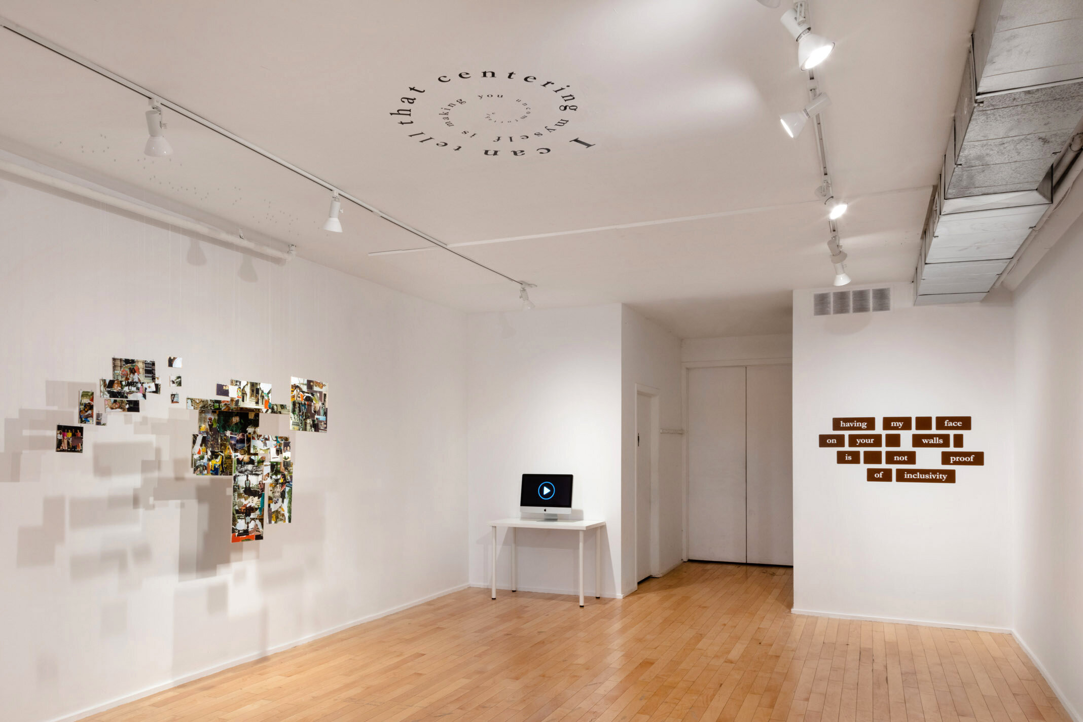 Installation View from  Reading Silences  at Forest City Gallery. London, Ontario. Curated by Matthew Kyba.