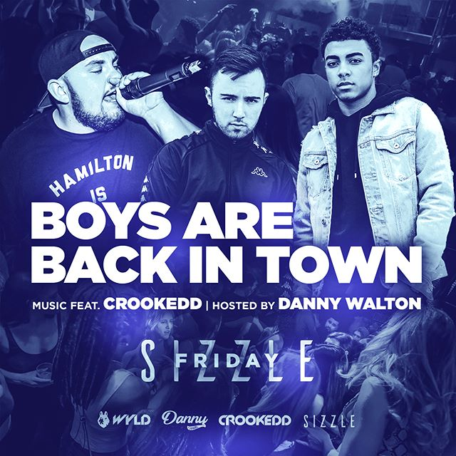Boys are back in town this Friday inside @sizzlekoi! Music feat. @crookeddmusic and hosted by @mc_dannywalton. Free on guest list, send us a message or sign up at www.wyld.events/friday #sizzlefridays #wyldevents