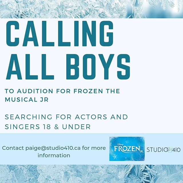 We had incredible callbacks for Frozen the Musical last night! Everyone blew us away BUT we are still searching to fill some male roles! If you know of any young man 18 & under that has a knack for acting and singing, tag them & share this post!  You don't know until you try, fellas, come join the MTC family! #auditions #musical #talentsearch
